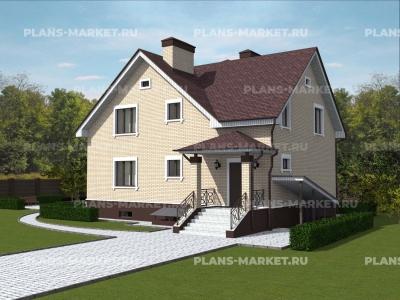 Готовый проект загородного дома К-169
