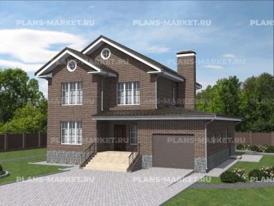 Готовый проект загородного дома Гс-193