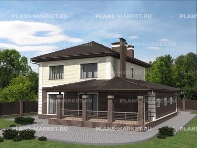 Готовый проект загородного дома К-184