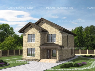 Готовый проект загородного дома Гс-152-1