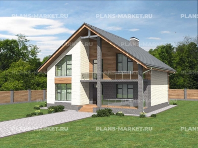 Готовый проект загородного дома Гс-203