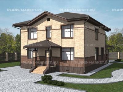 Готовый проект загородного дома К-205