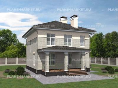 Готовый проект загородного дома К-163
