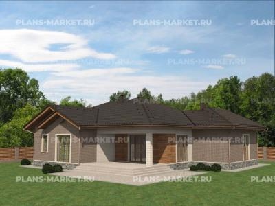 Готовый проект загородного дома К-183
