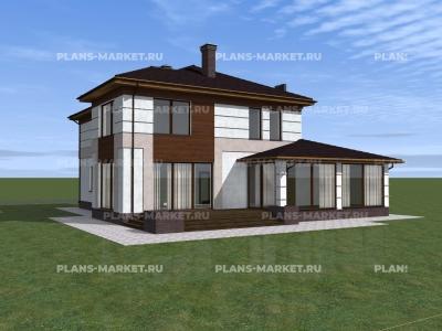 Готовый проект загородного дома К-243