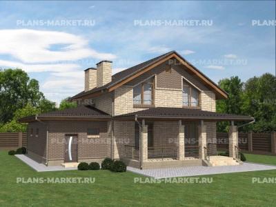 Готовый проект загородного дома К-150а