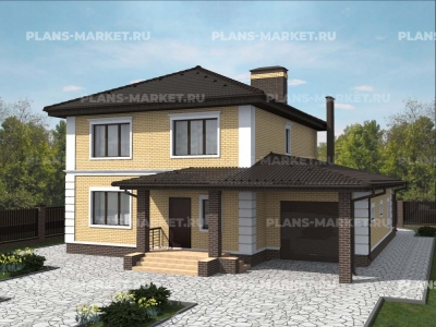 Готовый проект загородного дома Гс-184-1а