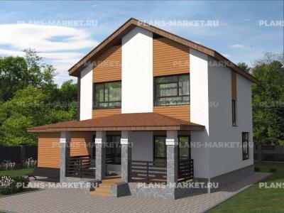 Готовый проект загородного дома Гс-127