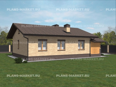 Готовый проект загородного дома К-99