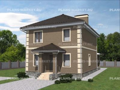 Готовый проект загородного дома Гс-126