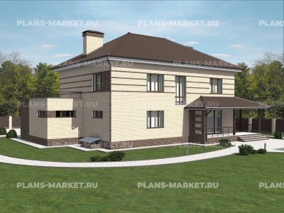 Готовый проект загородного дома К-298