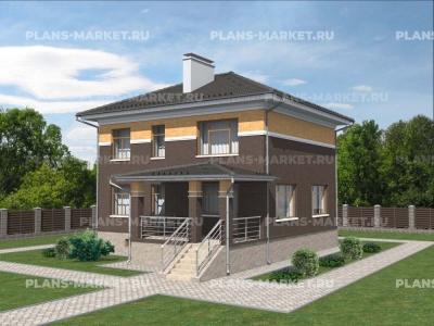 Готовый проект загородного дома К-120