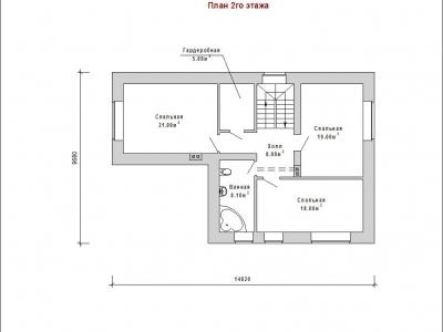 Готовый проект загородного дома К-196
