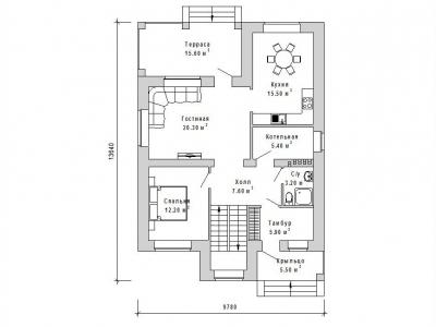 Готовый проект загородного дома Гс-142