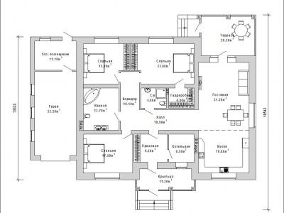 Готовый проект загородного дома К-218