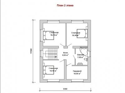 Готовый проект загородного дома Гс-153а