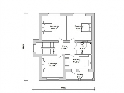 Готовый проект загородного дома К-178