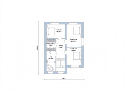 Готовый проект загородного дома К-151