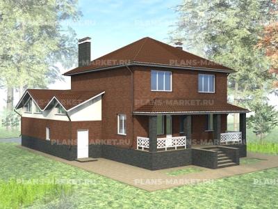 Готовый проект загородного дома К-276