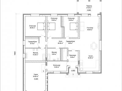 Готовый проект загородного дома Гс-246