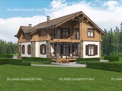 Готовый проект загородного дома Гс-237