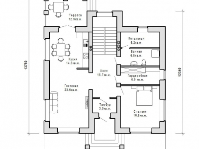 Готовый проект загородного дома Гс-191а