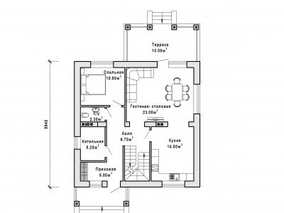 Готовый проект загородного дома К-143