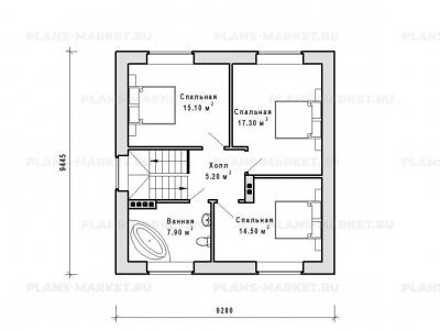Готовый проект загородного дома Гс-97