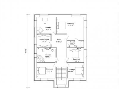Готовый проект загородного дома К-344