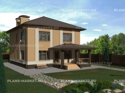 Готовый проект загородного дома К-167а