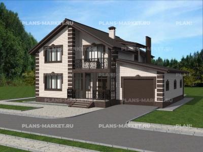 Готовый проект загородного дома Гс-185-1