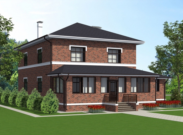 Готовый проект загородного дома К-289